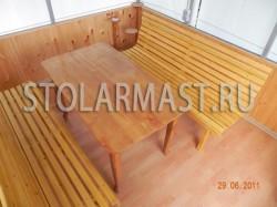 Комплект мебели для беседки - стол и две лавочки