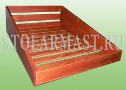 Ящик-витрина для продуктового магазина из дерева