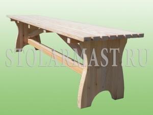 Скамейка деревянная для бани