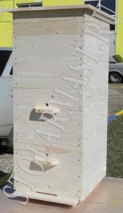 Ульи трёхкорпусные Дадана-Блатта на 10 рамок с наклонным дном